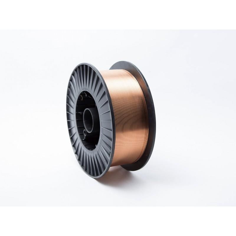 Hilo de soldar de acero bobina 15 Kg 0.8 mm